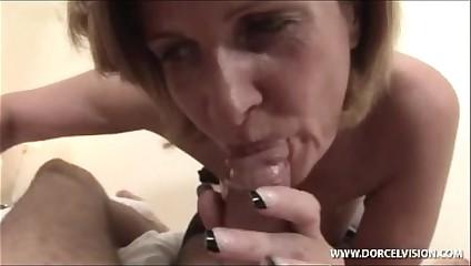 Florence aka Orphea Belle giving blowjob titjob branlette espagnole pov
