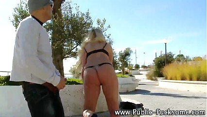 Public euro amateur real blondie