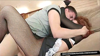 Redhead Maid Brooklyn Lee Fucked Rough In Uniform By Her Boss