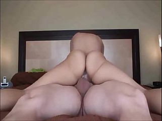 sexy brunette creampied while riding