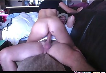 Teen With Big Tits Rides On Her BF's Cock