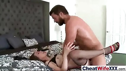 (riley reid) Cheating Sexy Wife Banged Hardcore On Cam clip-24