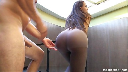 Shemale Camila Ferrari Pantyhose Fuck