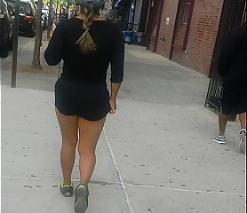 Fatass Latina Milf walking