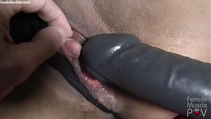 Muscular Masked Slave Gets POV Masturbation and Penetration