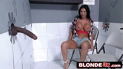 British MILF Jasmine Jae Visits The Gloryhole