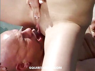 Teen-Squirt-On-Old-Dude