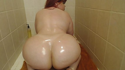 Pawg Marcy Diamond in the shower shaking and anal squirting