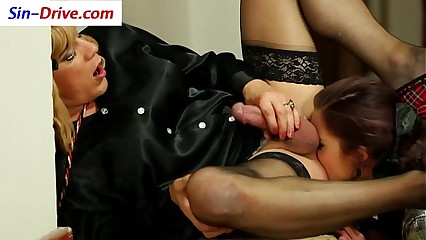 Slut pissed on by sissy