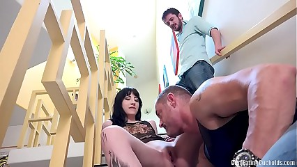 Sissy boy is forced to watch and clean - Charlotte Sartre