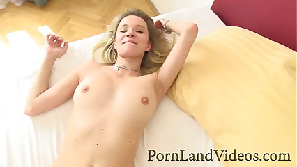 young skinny blonde loves doggy fuck and sucking cock