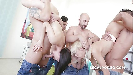 4ON2 DAP&GAPES. Crystal Greenvelle & Lola Shine SKINNY/ DAP/ GAPES/ ATM/ Cumswapping GIO200