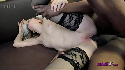 Skinny Cuckold Wife Hardcore Penetrated By Black Bull