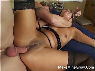 Hot Brunette Got Anal Sex