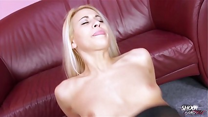 Nylon lovnig blonde slut ride the cock like its the only one in world