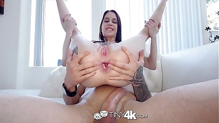 Tiny4K - Petite Anna DeVille gets her ass ready with a butt plug