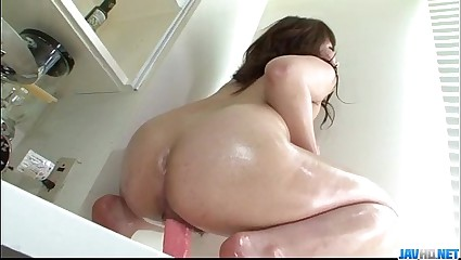 Kinky solo masturbation show with insolent Meina