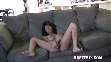 All natural latina making solo video