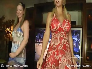 Sunny Lane & Vicky Vette Ultimate Sports BJ!