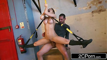 Flexible Hungarian Honey Aleska Diamond Fucked at the Gym