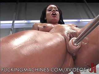 Vibrating Machines Make Her Squirt