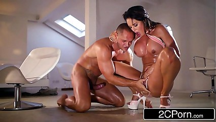 Big Tit Franceska Jaimes vs Nacho Vidal - Rough Blowjob & Squirt