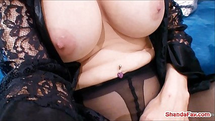 Canadian Crotchless Stocking Slut! Shanda Fay!