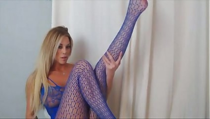 XO G. in blue body stocking sexy - myfuckingwebcam.com