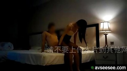 Fucking Chinese amateur with black stockings