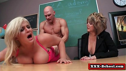 Schoolgirls and teachers fucked at school 19