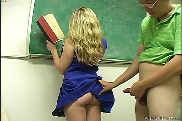 Teacher Cummed on students ass while writing on the board
