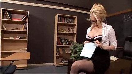 Sexy blonde teacher fucked - FacialxVideos.com