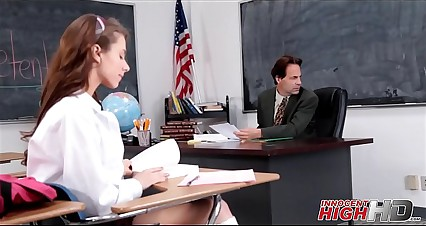 Skinny High School Girl Fucked By Teacher In Detention