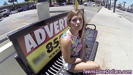 Money teen banged jizz