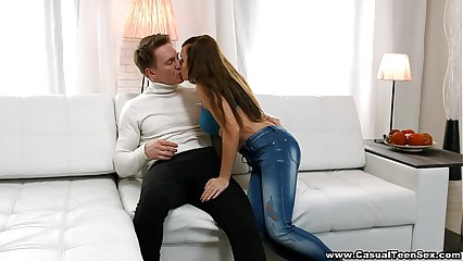 Casual Teen Sex - Bigtitted gal unleashes desire