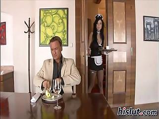 Bijou as a sexy maid