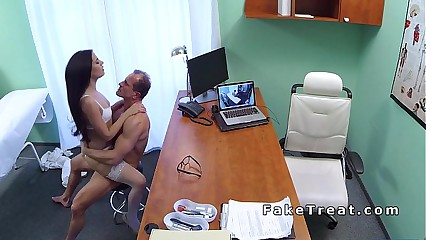 Oral sex between nurse and doctor in fake hospital