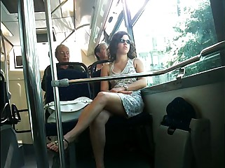 French upskirt Bus Nice.MOV