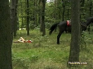 german wife threesome in nature