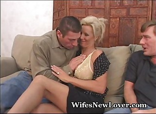 New Lover For Wife With Pussy Hubby