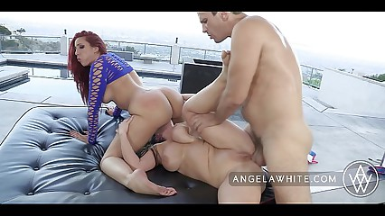 Big Tit Australian Angela White in All Anal Threesome with Kelly Divine