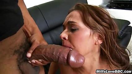 Big Dick Interracial Sex And Cum Swallowing