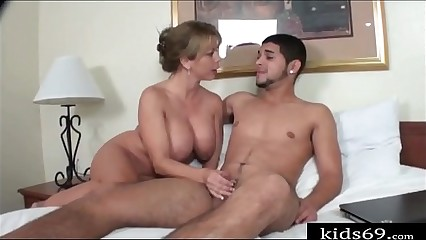 Mom help son release sex