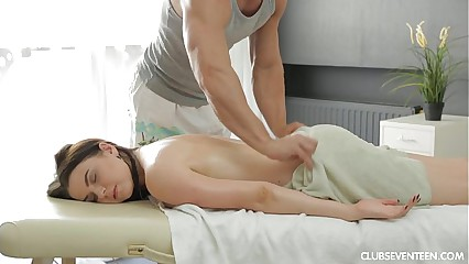 Russian girl gets big tits fucked