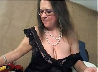 Mature with big clit and big saggy tits