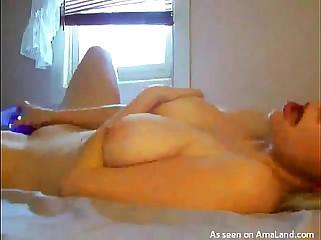 Girl with Big Tits Masturbates