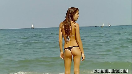 Asian teen in a thong bikini!