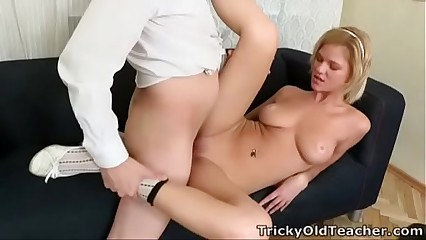 Tricky Old Teacher - Lovely blonde babe Shelly