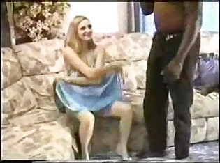 Petite Blonde Wife with 2 Black Bulls
