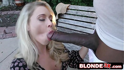 Big Tit Blonde Bimbo Katie Morgan Goes Black